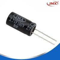 铝电解电容_直插立式铝电解电容_电解电容2.7ufM100V